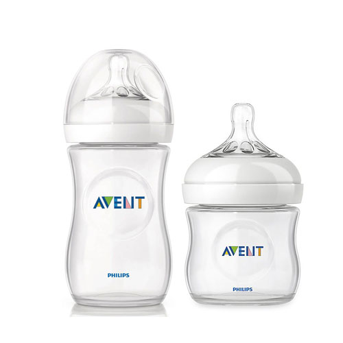 Philips Avent Natural Glass Baby Bottle Clear 8oz 4pk