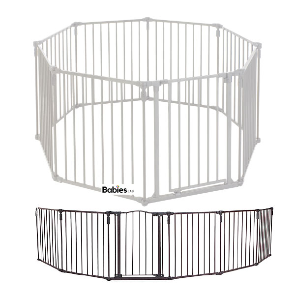 Toddleroo by North States 3 in 1 Metal Superyard free standing baby gate